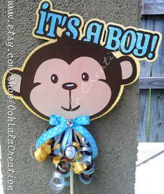 Monkey cake topper by OohLalaCreation on Etsy