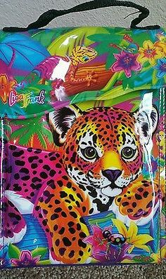 Rare Vtg Lisa Frank Vinyl Insulated Lunch Bag Box Leopard Cub Print Rainbow in Collectibles, Pinbacks, Bobbles, Lunchboxes, Lunchboxes, Thermoses | eBay