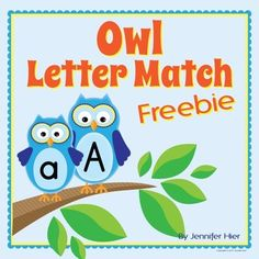 Owl Letter Match Freebie for Preschool and Early Childhood