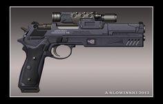 Antonio Offensive 990 Machine Pistol by BlackDonner.deviantart.com on @deviantART