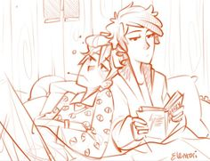 wip scribble, Bill is sick so he drug all the blankets and pillows in the shack onto Dipper's bed.