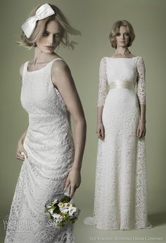I love the dress on the right.  I'm looking for a retro feel!