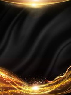 creative black gold light effect background