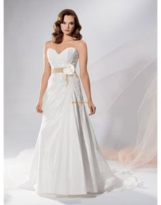 A-linje Ermeløs Naturlig Designer brudekjoler