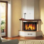 Best Corner Fireplace Ideas For Your Home Fireplace Garden, Fake Fireplace, Fireplace Design, Fireplace Ideas, Inside A House, Freestanding Fireplace, Traditional Fireplace, Fit Chicks, Marble