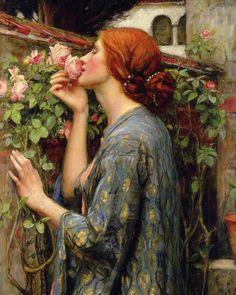 The Soul of the Rose. John William Waterhouse, 1908. #waterhouse #preraphaelite #arthistory