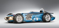 Rounds Rocket among vintage Indy cars highlighting Milhous auction