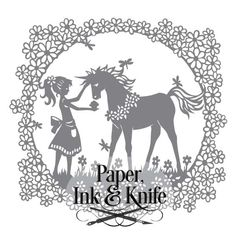 Unicorn and Girl Papercutting template with SVG file.