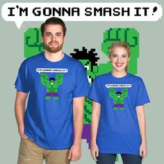 Daily T-Shirt of Marvel's Incredible Hulk in the style of Disney's Wreck It Ralph on TeeFizz.com!