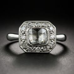 Really like the low profile and vintage look. Platinum Rose-Cut Diamond Ring