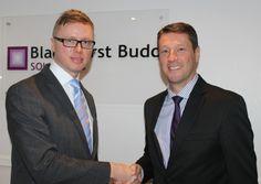 Ed White, left, with  Blackhurst Budd MD Warren Spencer