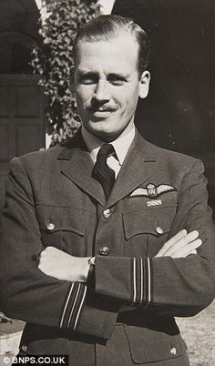Inspiring: Wing Commander Ken Gatward became an international hero after dropping the French flag on the Arc de Triomphe in occupied France