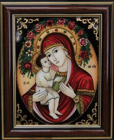 Maria cu Pruncul Mosaic Glass, Glass Art, Cool Jesus, Art Nouveau, Jesus Art, Madonna And Child, Blessed Virgin Mary, Blessed Mother, Mother Mary