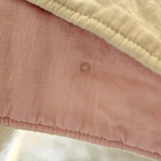 Sweet way to tie a quilt by machine - Linen Quilt by craftapple, via Flickr