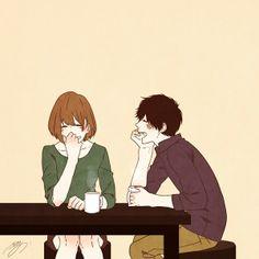 love, art and couple image on We Heart It Manga Love, Manga Girl, Anime Love, Manga Anime, Anime Art, Manga Couple, Couple Cartoon, Cute Couple Drawings, Cute Drawings