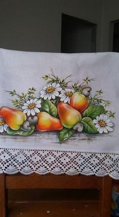 Pintura tela frutas y flores