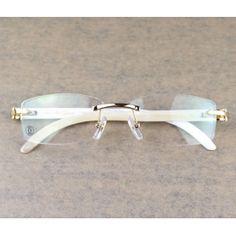 539bb1dbd1c white buffalo horn cartier glasses.. hard as shit.. - Sale! Up
