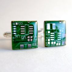 11 best geek cufflinks images circuit board, cufflinks, men\u0027scircuit board cufflinks emerald green, square domed