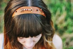 a bit of sunshine: leather headband with The Merrythought