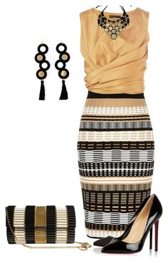 A fashion look from August 2015 featuring cropped shirts, River Island and christian louboutin shoes. Browse and shop related looks. Classy Work Outfits, Stylish Outfits, Look Fashion, Womens Fashion, Fashion Design, Looks Chic, Elegant Outfit, Work Attire, Dress To Impress