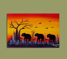 Beautiful African Elephants.  visit www.africanartpieces.com to learn more about African Art and household decor