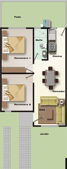 Ryan Shed Plans Shed Plans and Designs For Easy Shed Building! Small Space Interior Design, Home Room Design, Small House Design, Interior Design Living Room, 2 Bedroom House Plans, Small House Plans, House Floor Plans, Apartment Plans, Room Planning