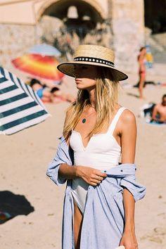 Free People Pippa V-Wire Bodysuit Looks Street Style, Looks Style, Style Outfits, Summer Outfits, Beach Outfits, Outfits 2016, Trendy Outfits, Summer Dresses, Fashion Week