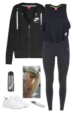 """Nike "" by xofashionismylovexo ❤ liked on Polyvore featuring NIKE"