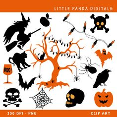 Halloween Digital Clip Art  Personal and by LittlePandaDigitals, $3.50