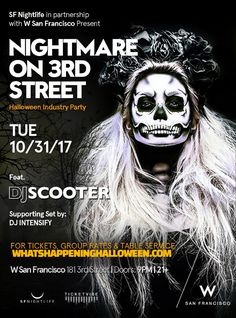 W San Francisco Halloween Night | Join us TUESDAY, October 31st @ 9:00 PM, Halloween Night at S.F.'s new, upscale ultra lounge inside W San Francisco Hotel. Dance the night away to ghoulish grooves by DJ Scooter and DJ Intensify.
