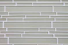 Sheep's Wool Light Beige Random Strip Glass Mosaic Tiles - contemporary - kitchen tile - by Rocky Point Tile