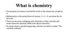 What Is Chemistry, Mathematics, Facts, Science, Pure Products, Math