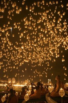 Lantern Festival.  Chiang Mai, Thailand.  This old festival held on the full moon night of November is said to be the most charming of all in Thailand.