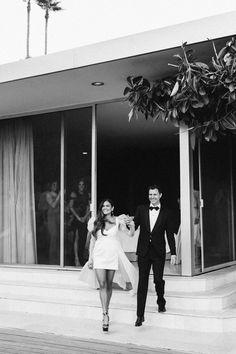 This Bridal Shop Owner Wore Five Different Dresses for her Palm Springs Wedding- HarpersBAZAAR.com | Ashley Smith Events | Loho Bride | Sarah Falugo | Eothen | Gold and Gumption | Dart DJ | Frederick Loewe Estate | Palm Springs