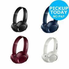 Philips Shb3075 On Ear Wireless Bluetooth Headphones Black Blue Red White Philips Shb3075 Black Headphones Bluetooth Headphones Wireless Adjustable Headband