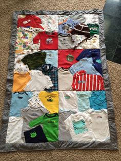 Have a First Year Baby quilt made out of your baby clothes.  Find listing on Etsy.com/Chicksondahillquilts.