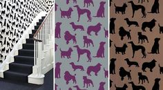 Dapper Dog Wallpaper / The English Room Blog - Tap the pin for the most adorable pawtastic fur baby apparel! You'll love the dog clothes and cat clothes! <3