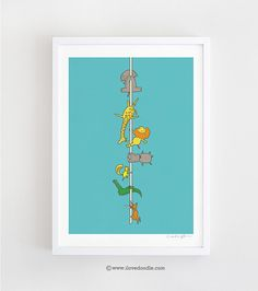 """""""We love pole dancing""""  Art print by ilovedoodle on Etsy"""