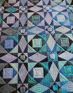 Storm-at-sea mini quilt:  Fertig !!! by Grit at Grit's Life