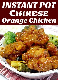 Chinese orange chicken is a family favorite for many people. With this easy to make copycat recipe, you can make Instant Pot Orange Chicken at home Crispy Orange Chicken Recipes, Healthy Orange Chicken, Orange Chicken Crock Pot, Chinese Chicken Recipes, Easy Chicken Recipes, Chinese Orange Chicken, Crispy Chicken, Instant Pot Chinese Recipes, Instant Pot Dinner Recipes
