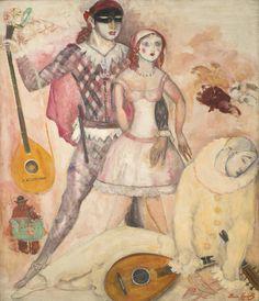Boris Anisfeld (1878-1973), PIERROT, 1943, oil on canvas, 125 x 100 cm