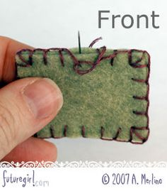 GREAT blanket stitch tut -- cuz I always have a hard time with the first stitch and corners!  :)