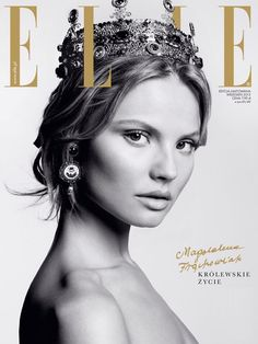 #MagdalenaFrackowiak by Magdalena Luniewska for #EllePoland September #2013; fashion editor: Ina Lekiewicz