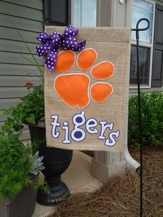 Clemson Tigers Garden Flag by ThingsWeLove2014 on Etsy
