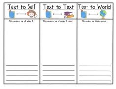 Text connections graphic organizer FREEBIE!! | Literacy Centers ...