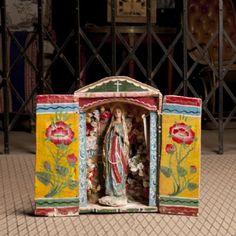 Retablito Virgencita Antiguo a la venta www.decohunt.com!