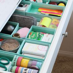 8 Smart Ways To Finally Wrangle Your Junk Drawer #1  Divide and Conquer - most important rule to start with when ready to control your junk drawer!
