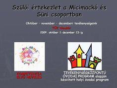 Szülői értekezlet a Micimackó és Süni csoportban> October