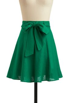 Adorable green skirt: Musee Rodin Skirt, at ModCloth