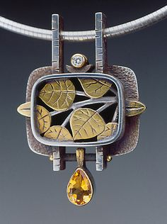 Aspen Leaf Necklace - Art Jewelry Magazine - Online Community, Forums, Blogs, and Photo Galleries